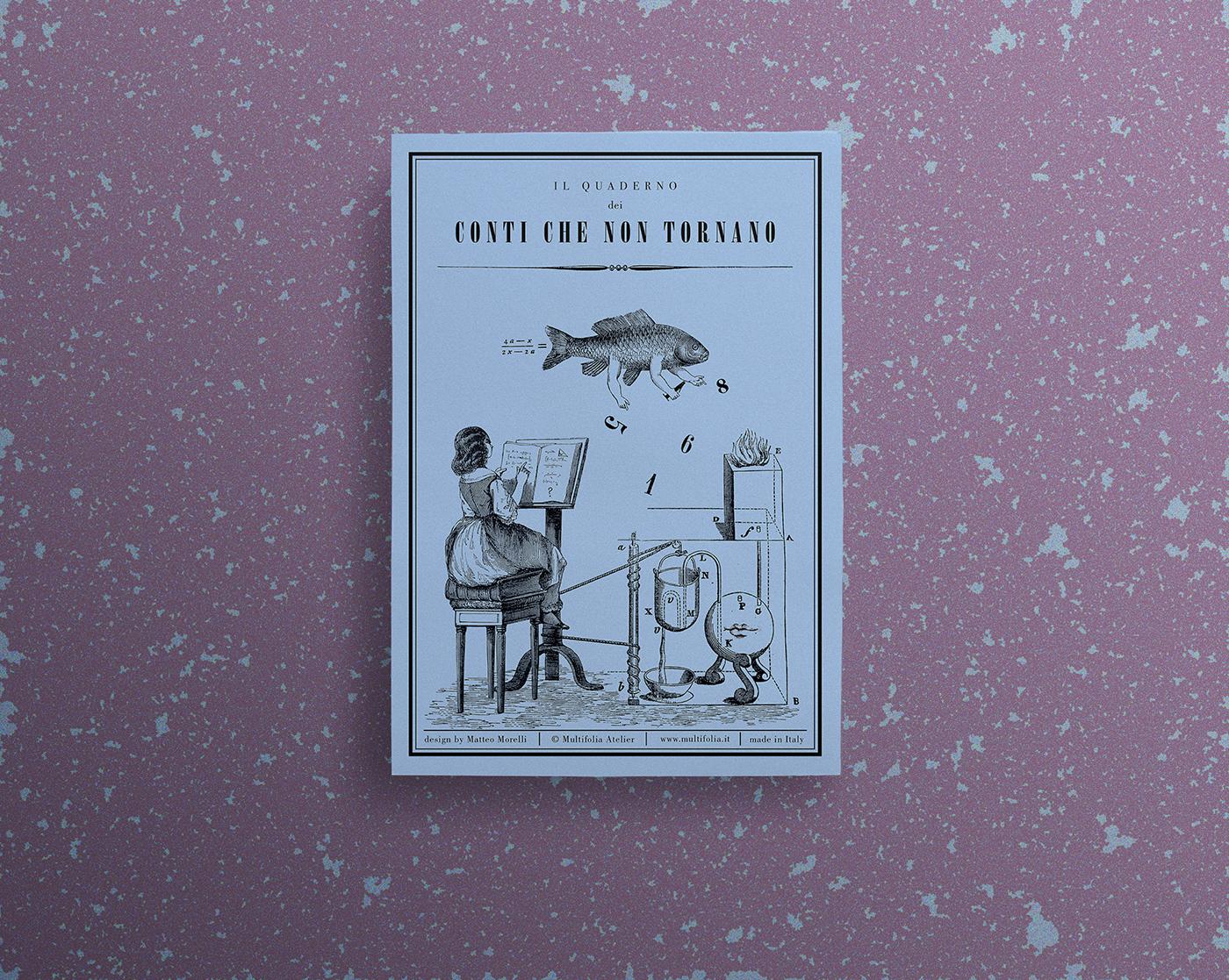 I quaderni dei conti // 3 covers for Multifolia Atelier on