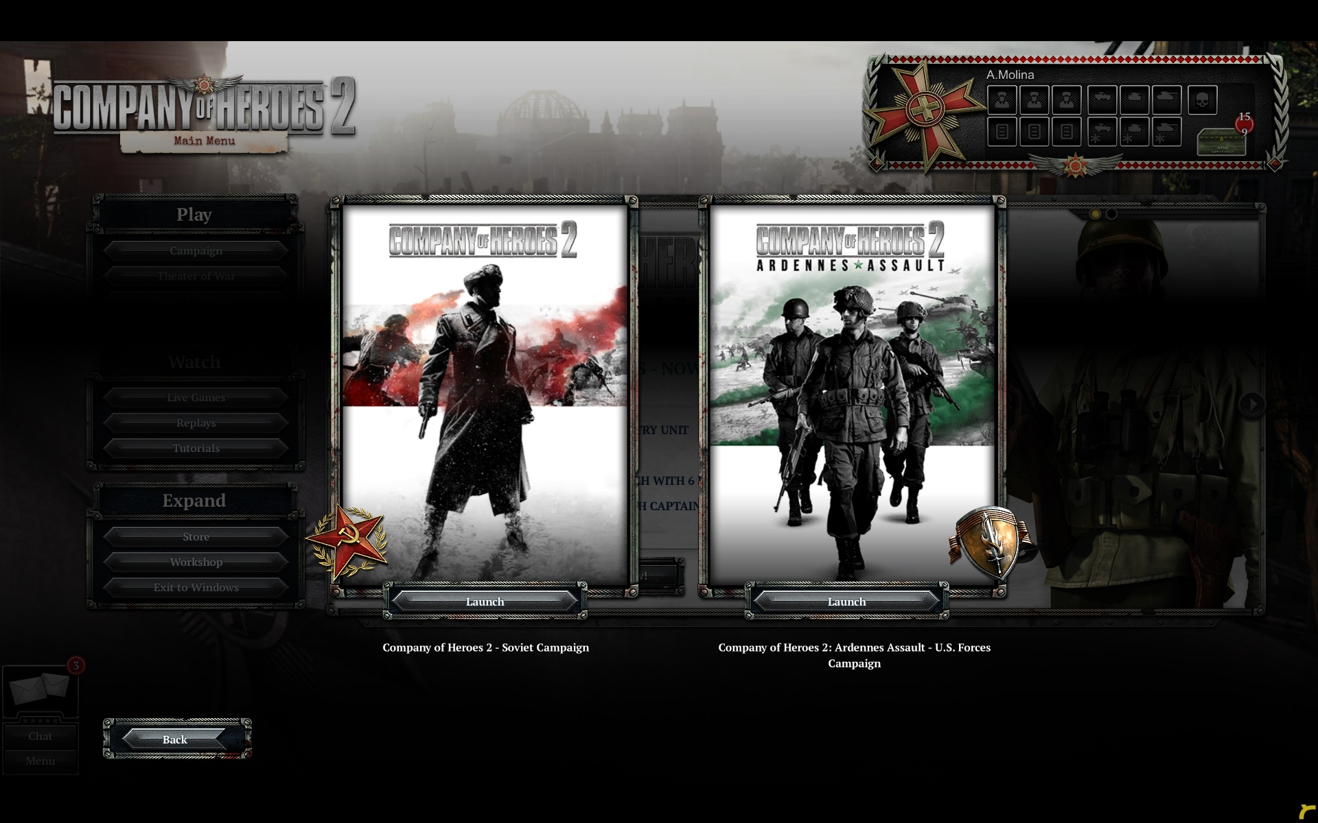 Company Of Heroes 2 Ardennes Assualt Ui Ux On Behance