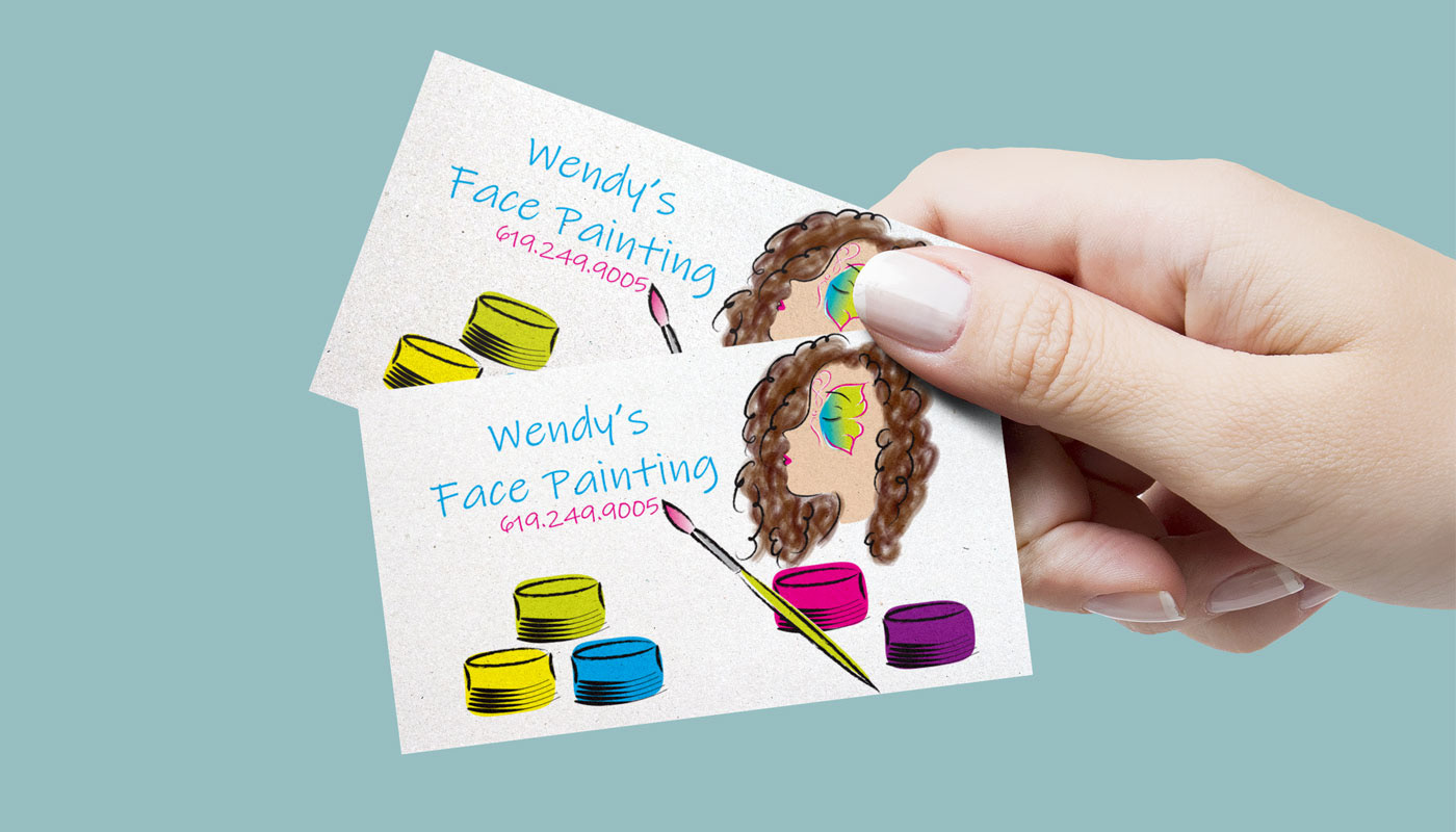 Face painting business cards on behance loose color style for business card colourmoves