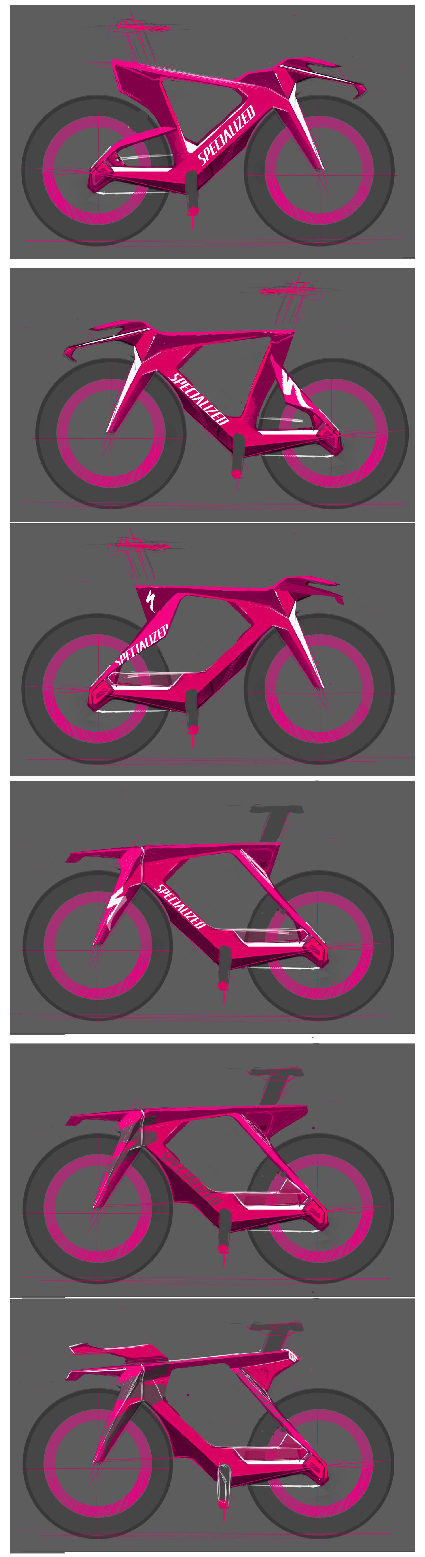 Фото картинки - Макет (розовый) велосипеда SPECIALIZED по дизайну PARADOX