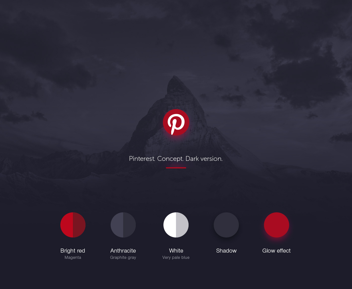 b0708f6e3e1 Pinterest. Concept. Dark version. on Behance