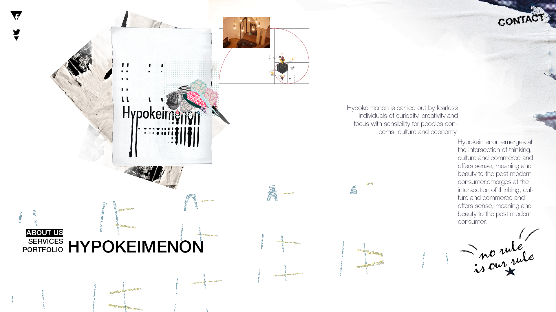Hypokeimenon website on Behanc...