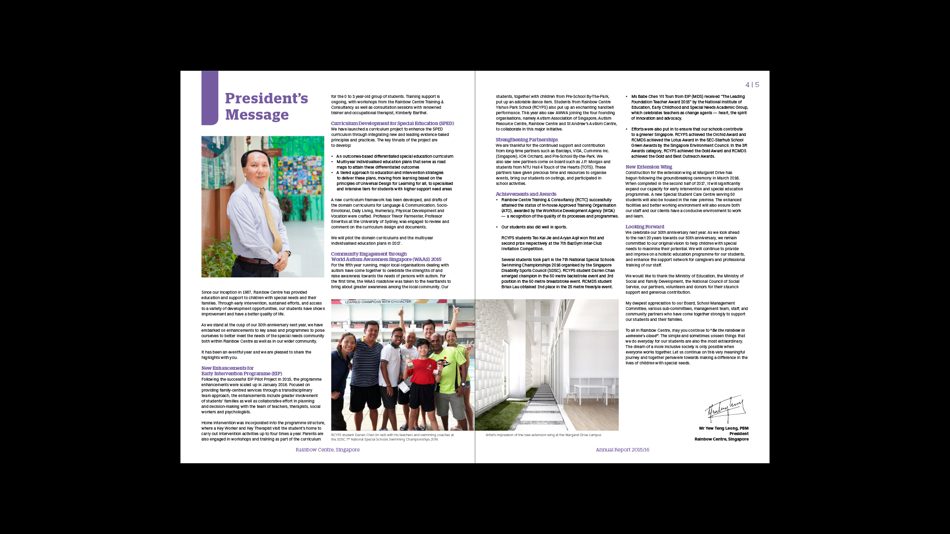 Rainbow Centre Annual Report 2015/2016 on Behance