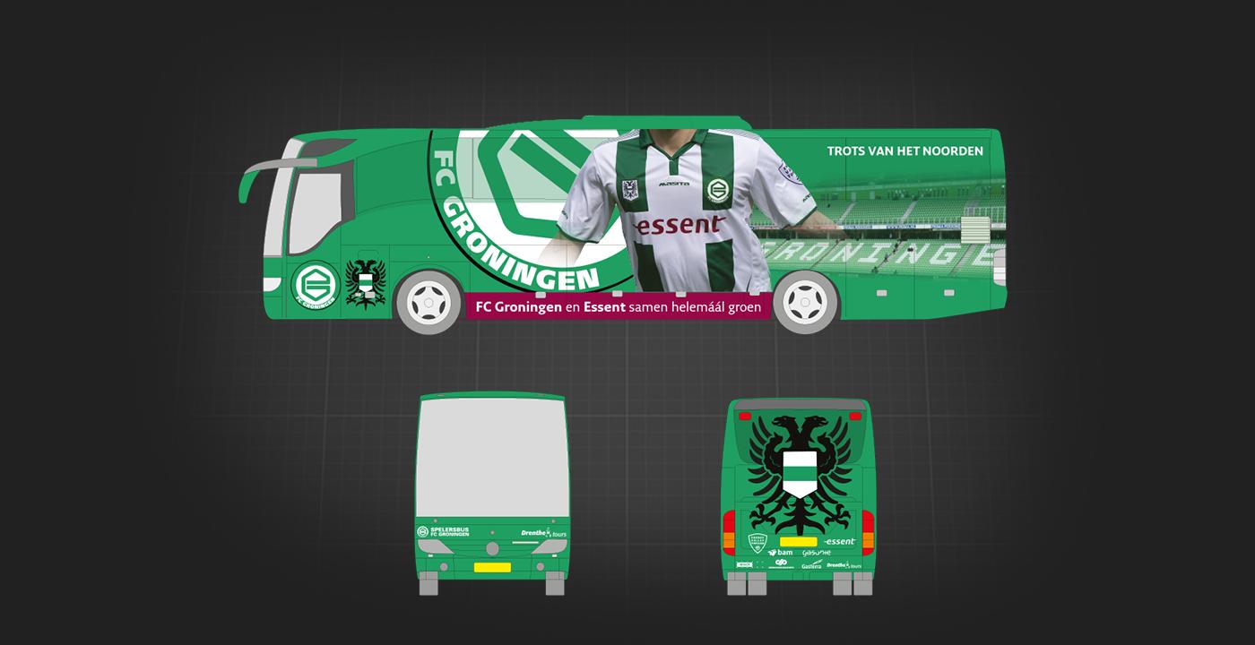 Fc Groningen Official Bus On Behance