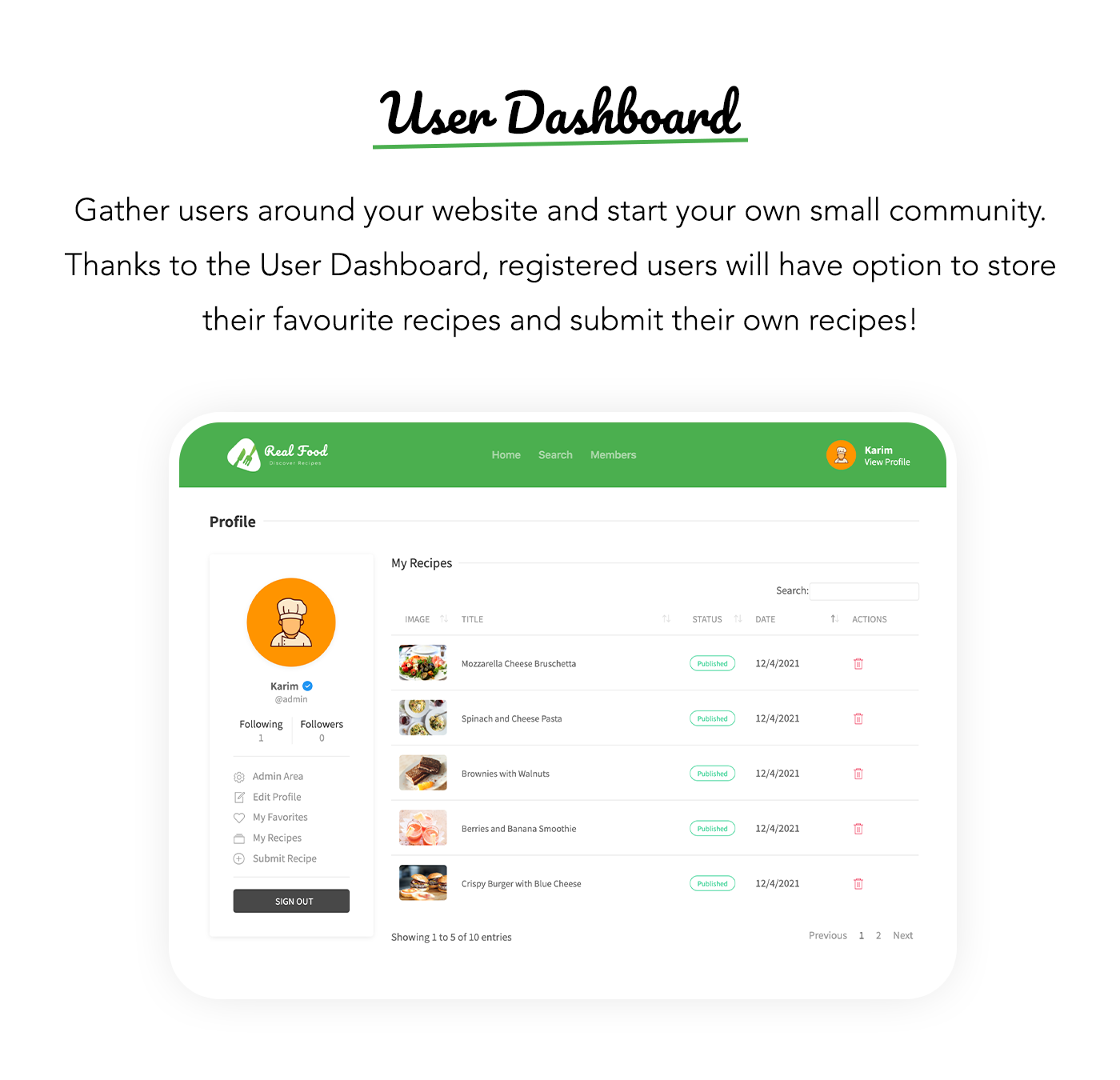 RealFood | The Ultimate PHP Recipes & Community Food - 8