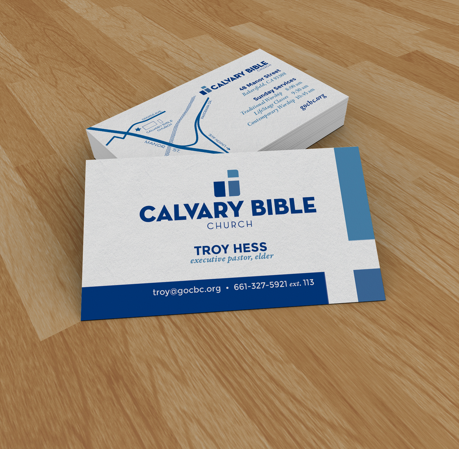 Eddie gonzalez branding for calvary bible church even got to create a new map those are always fun reheart Images