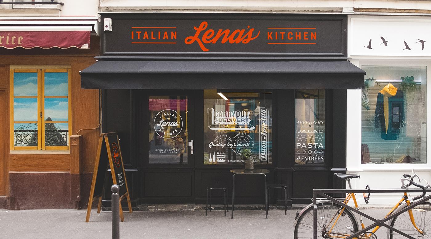 Lena S Italian Kitchen Restaurant Logo Branding On Behance