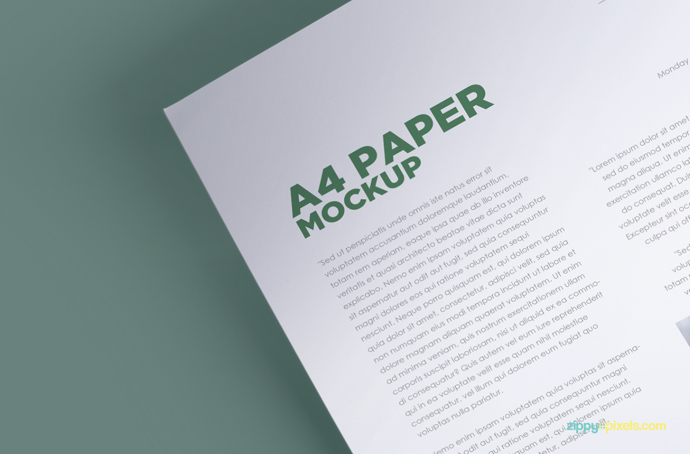 Good Click Here To Download This Free Customizable Letterhead Mock Up In A4 Size
