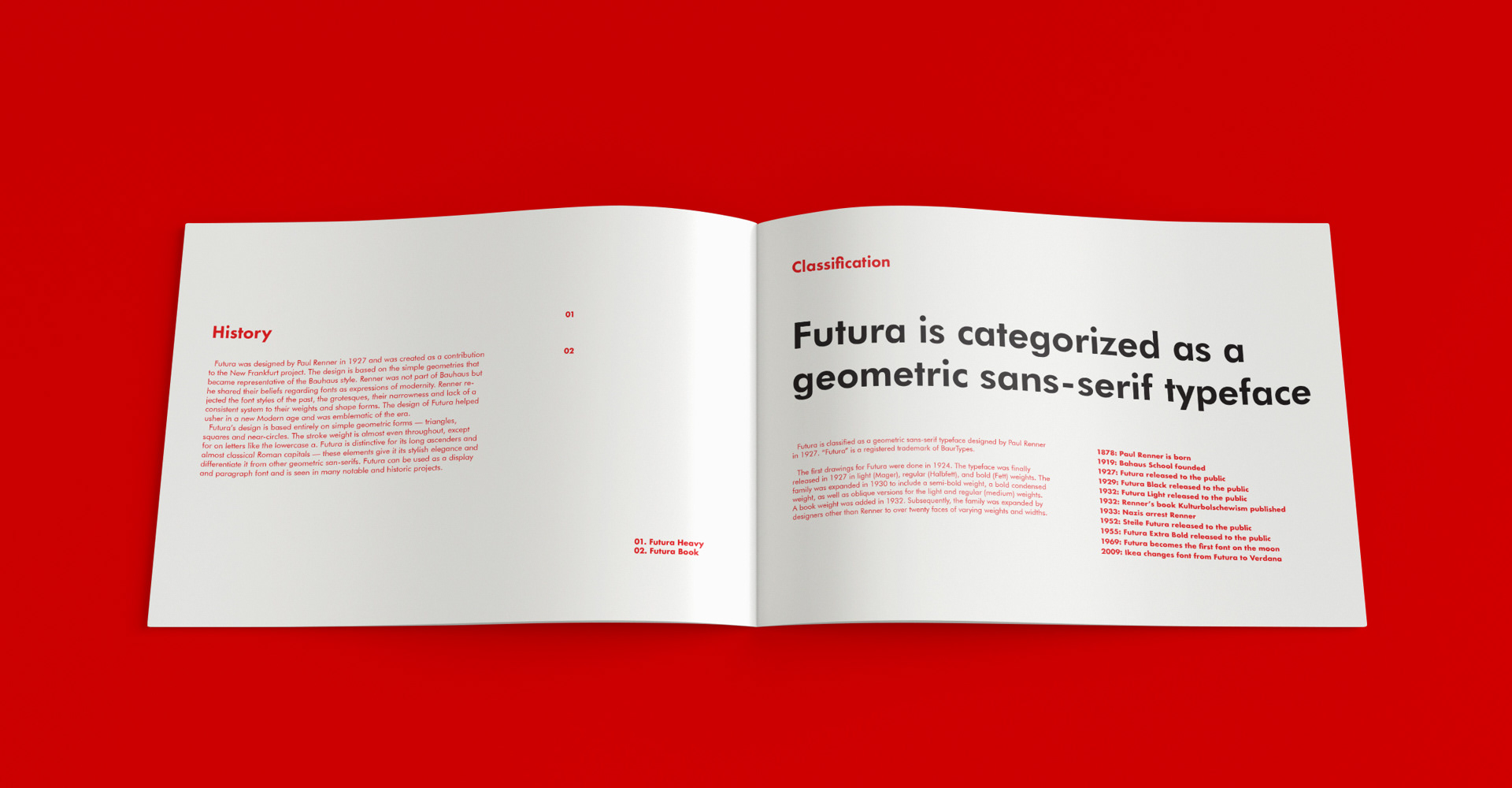 Futura Font Research Booklet on Behance