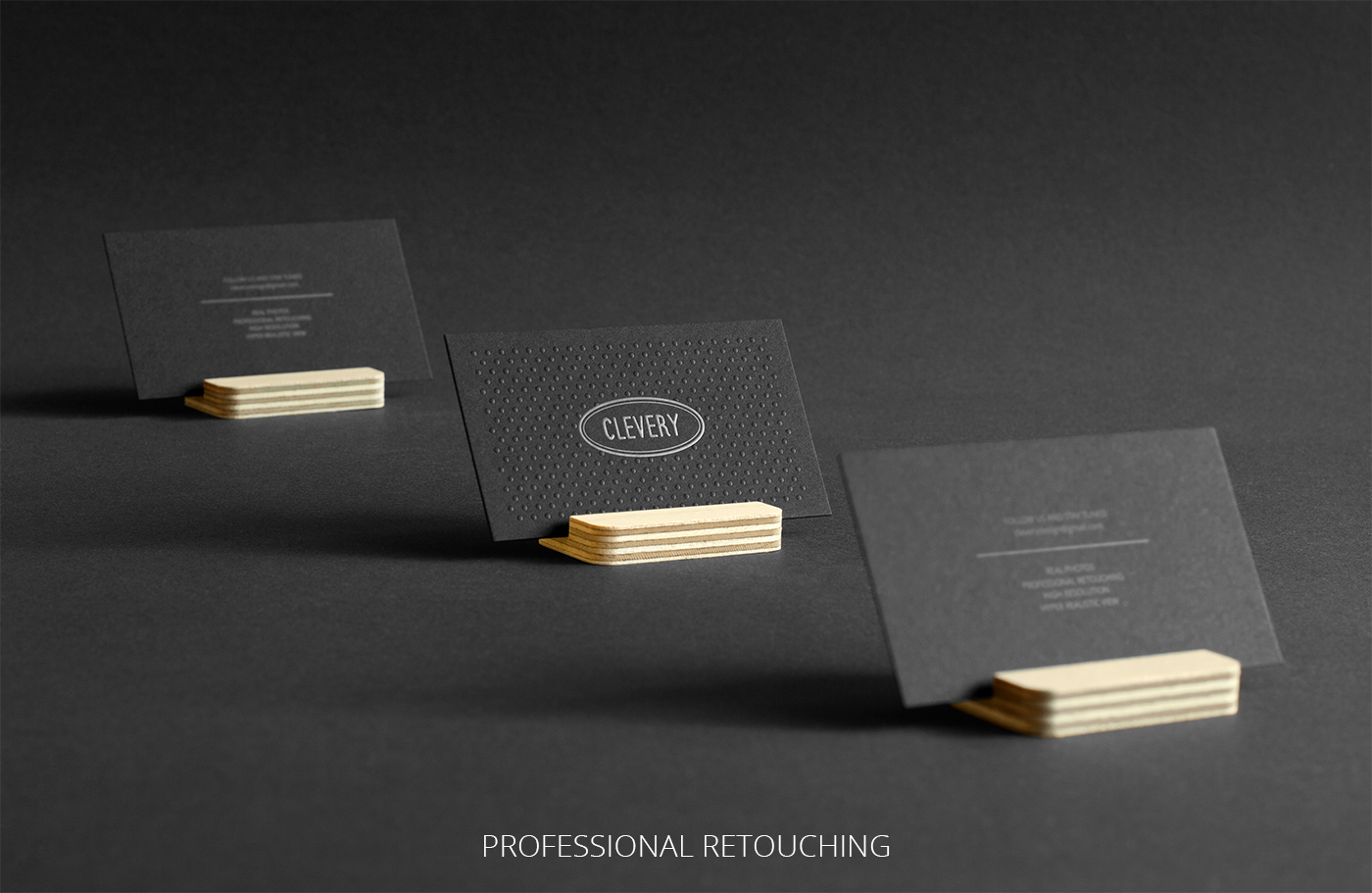 Photorealistic business cards mockup black edition on behance reheart Gallery