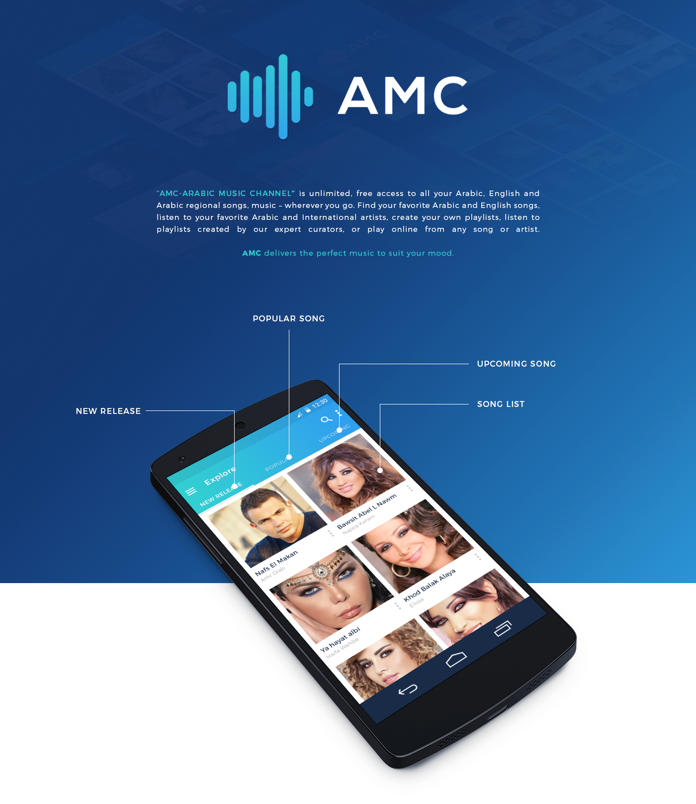 FREE PSD - Arabic Music Channel (Android) App Concept on Behance