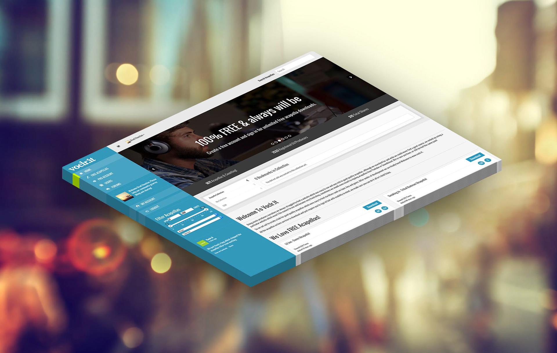 Voclr it - Web Design & Development on Behance