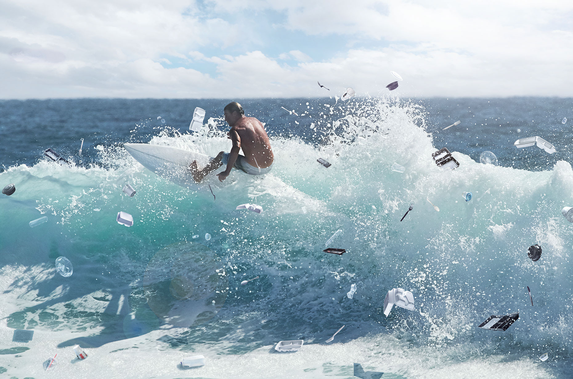 Art Direction & Digital Photography: Plastic Surf by Weston Fuller