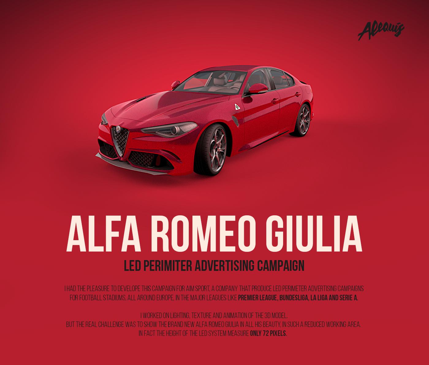 Thank You!  sc 1 st  Behance & Alfa Romeo Giulia /// LED Perimeter Advertising on Behance
