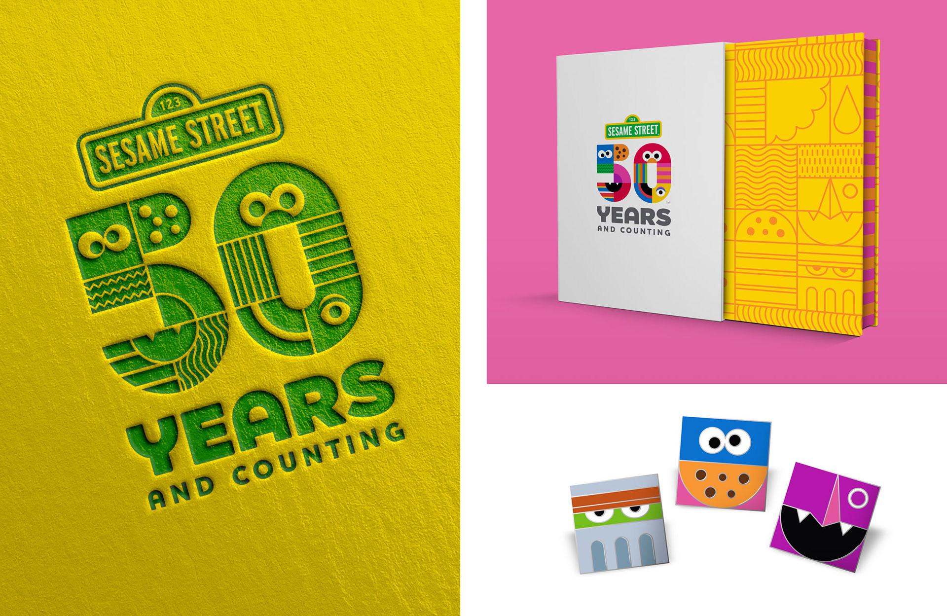 Sesame Street 50th Anniversary Branding on Behance