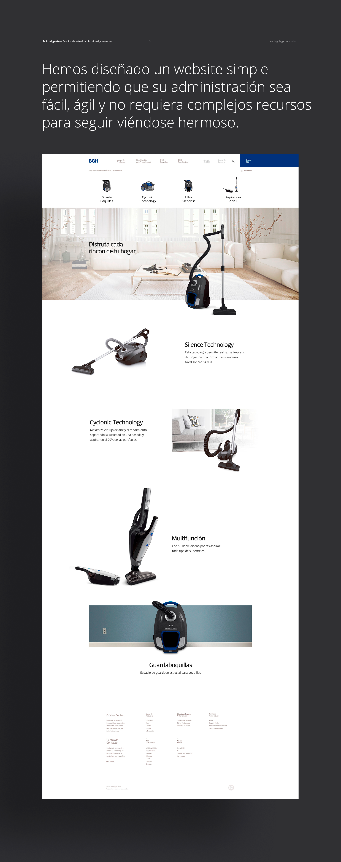 0475217a762 Diseñamos y desarrollamos la plataforma digital de Bgh. on Behance