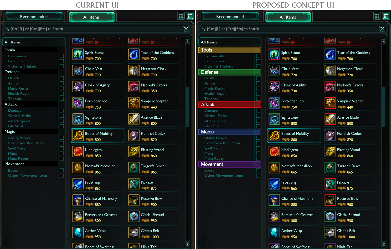 League of Legends User Interface Concepts on Behance
