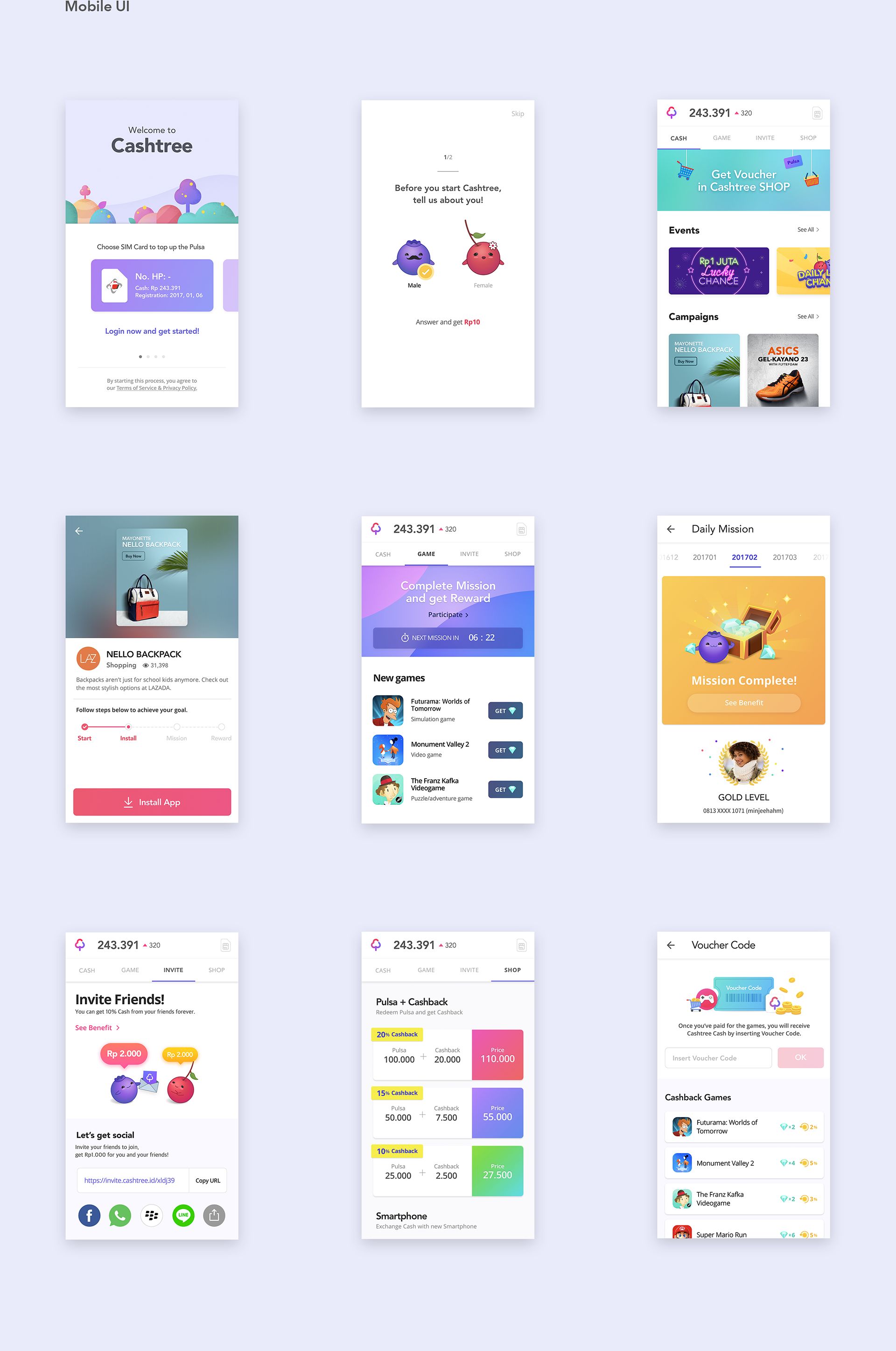 Interaction Design & UI/UX: Cashtree App