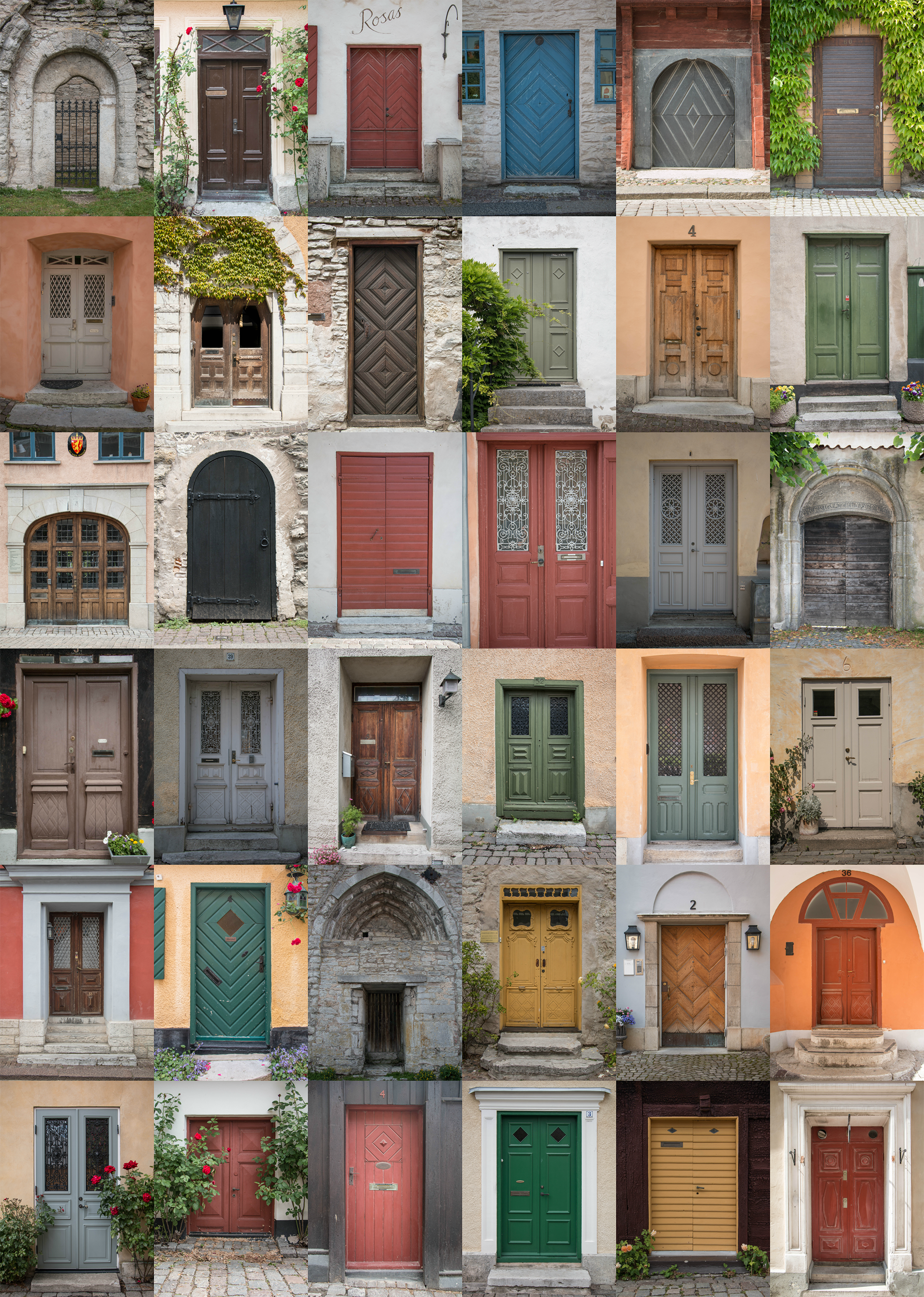 Visby doors collage