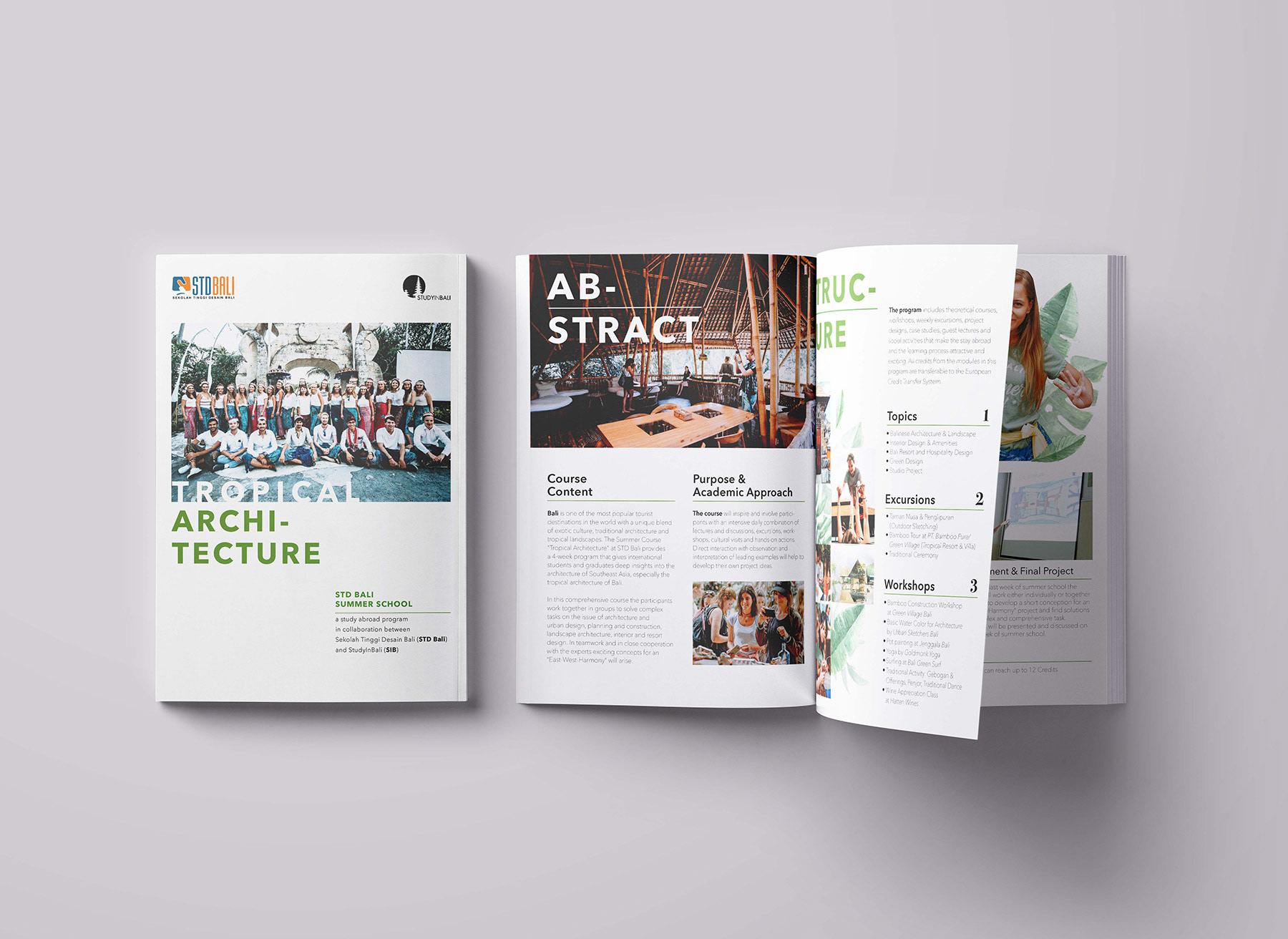 Booklet Design for STD Bali Summer School on Behance