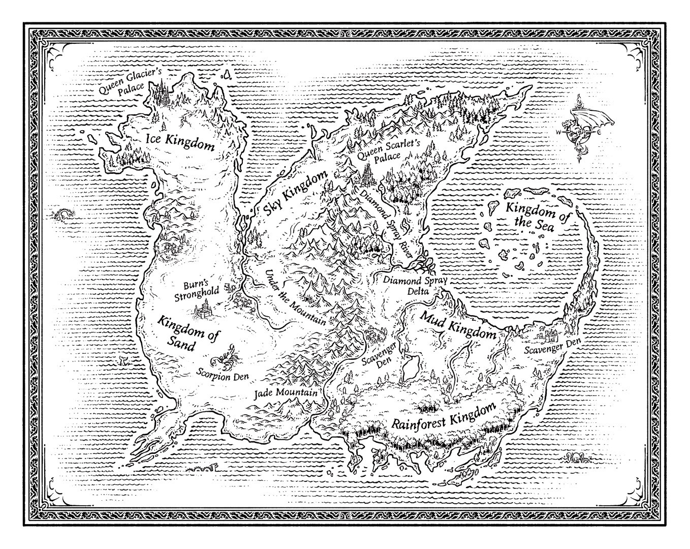 Wings of Fire Map