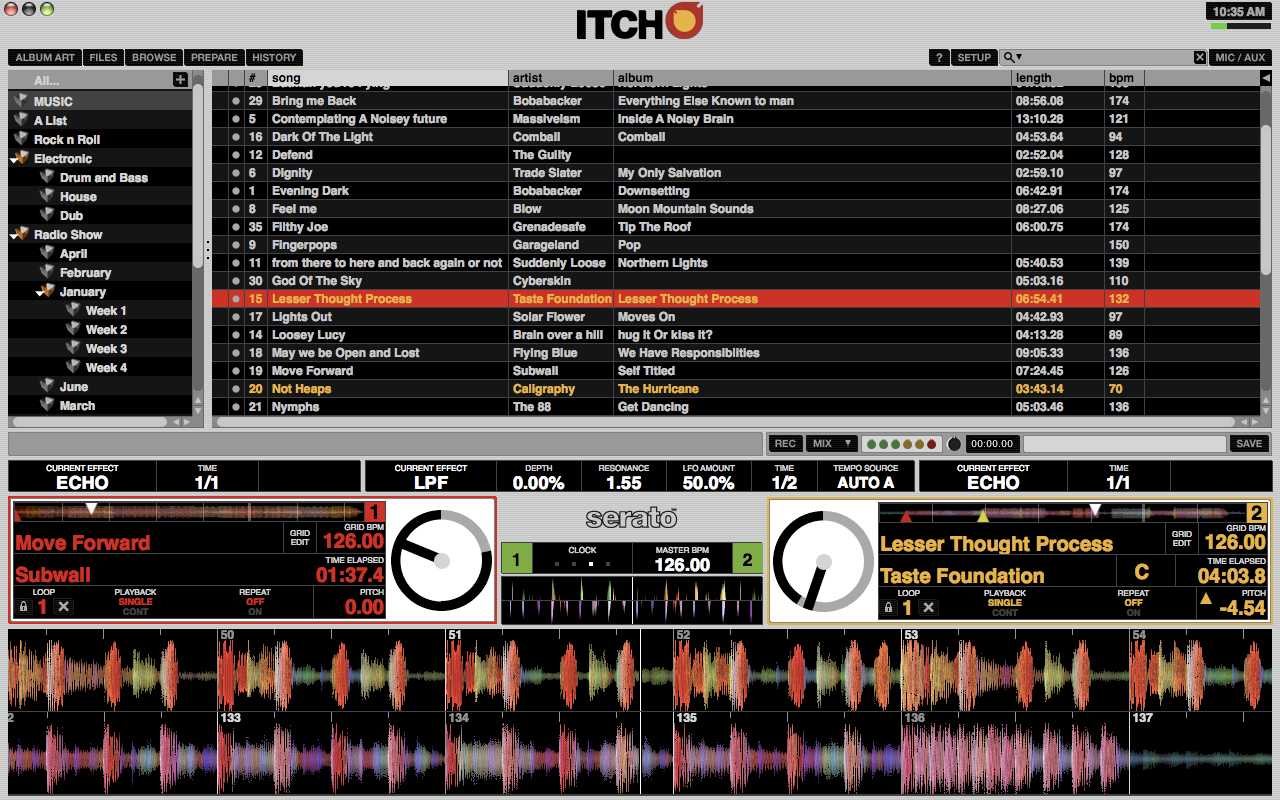warik blake serato itch user interface rh warikjames myportfolio com Serato Itch Torrents Serato DJ Software