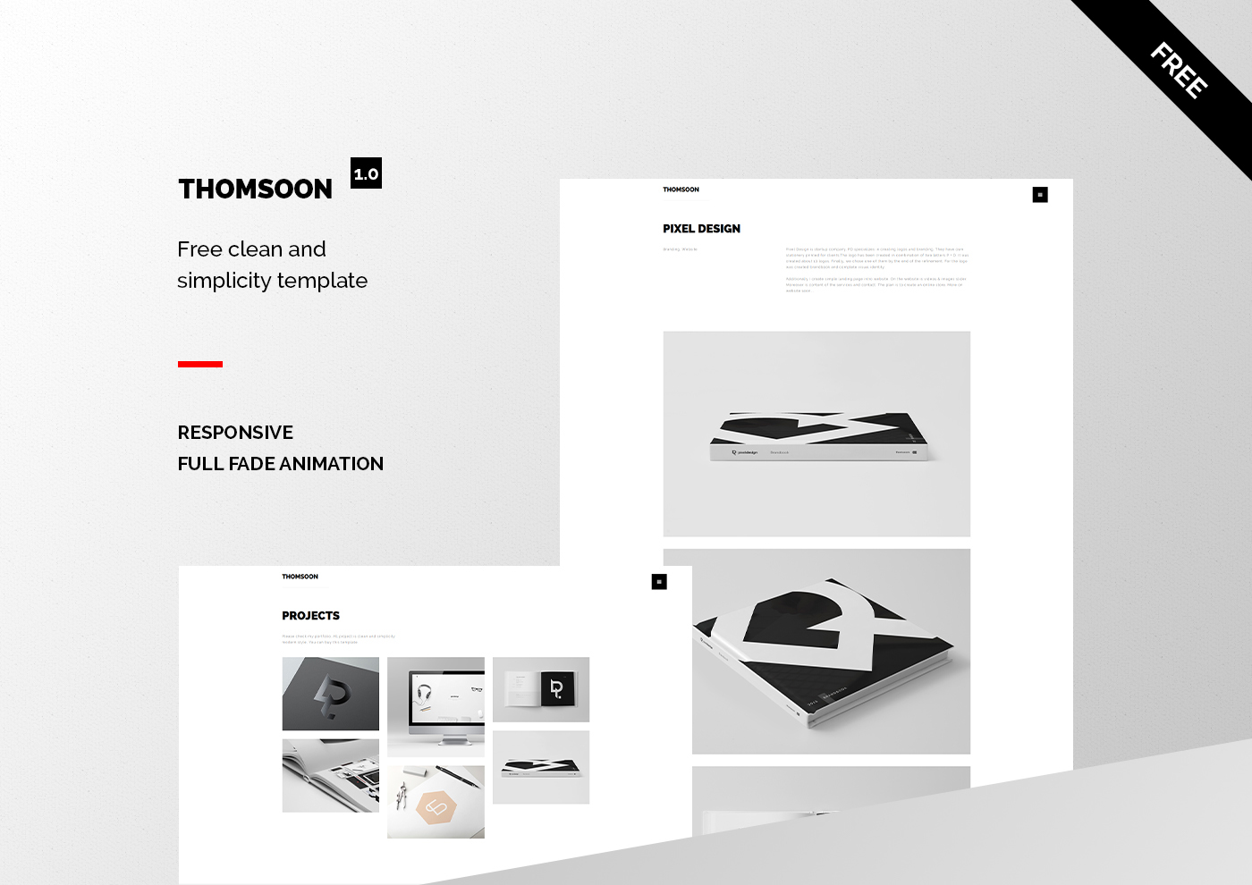 Thomsoon Free Responsive Portfolio Theme Download On Behance