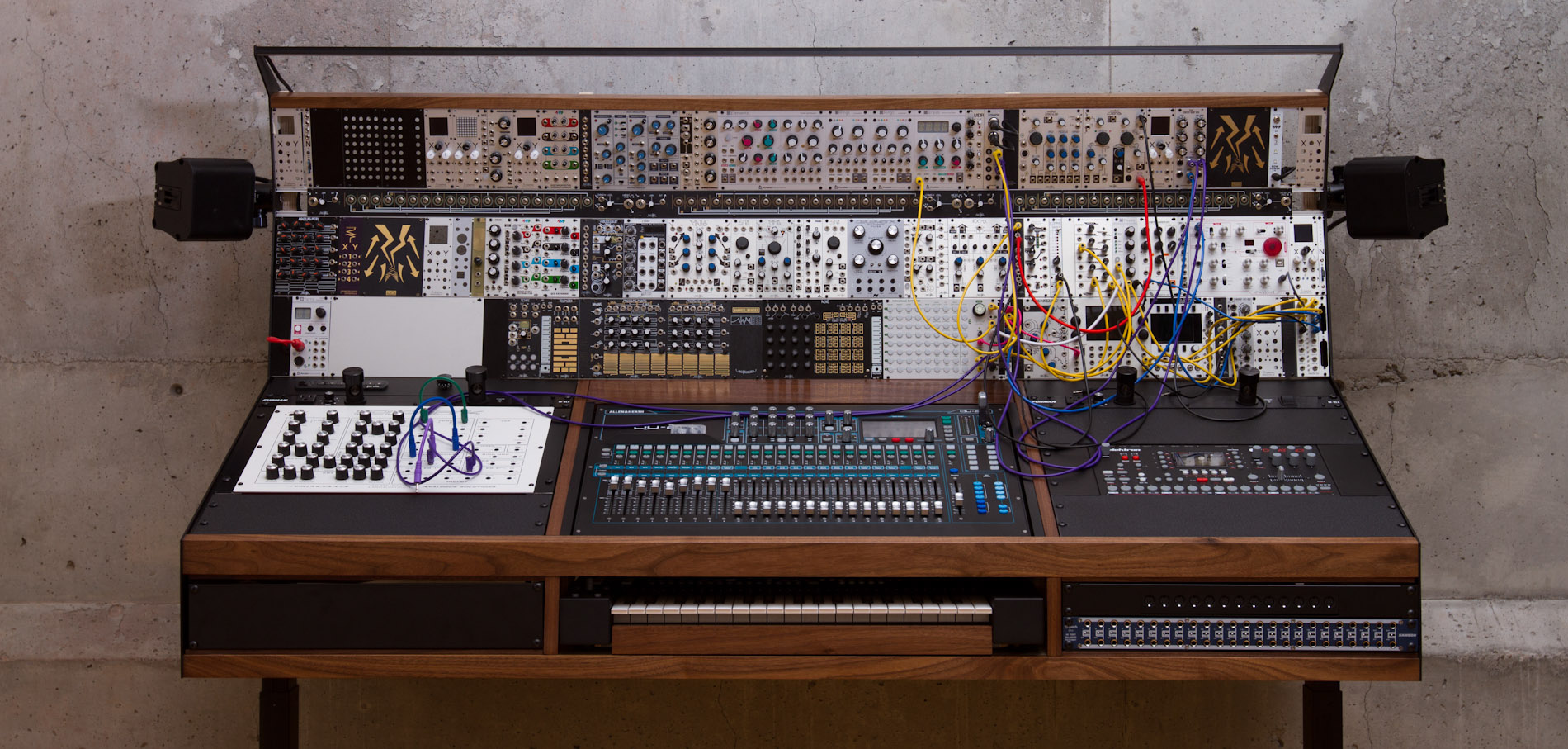 Synthesizer Music Studio On Lift Behance Recording Wiring