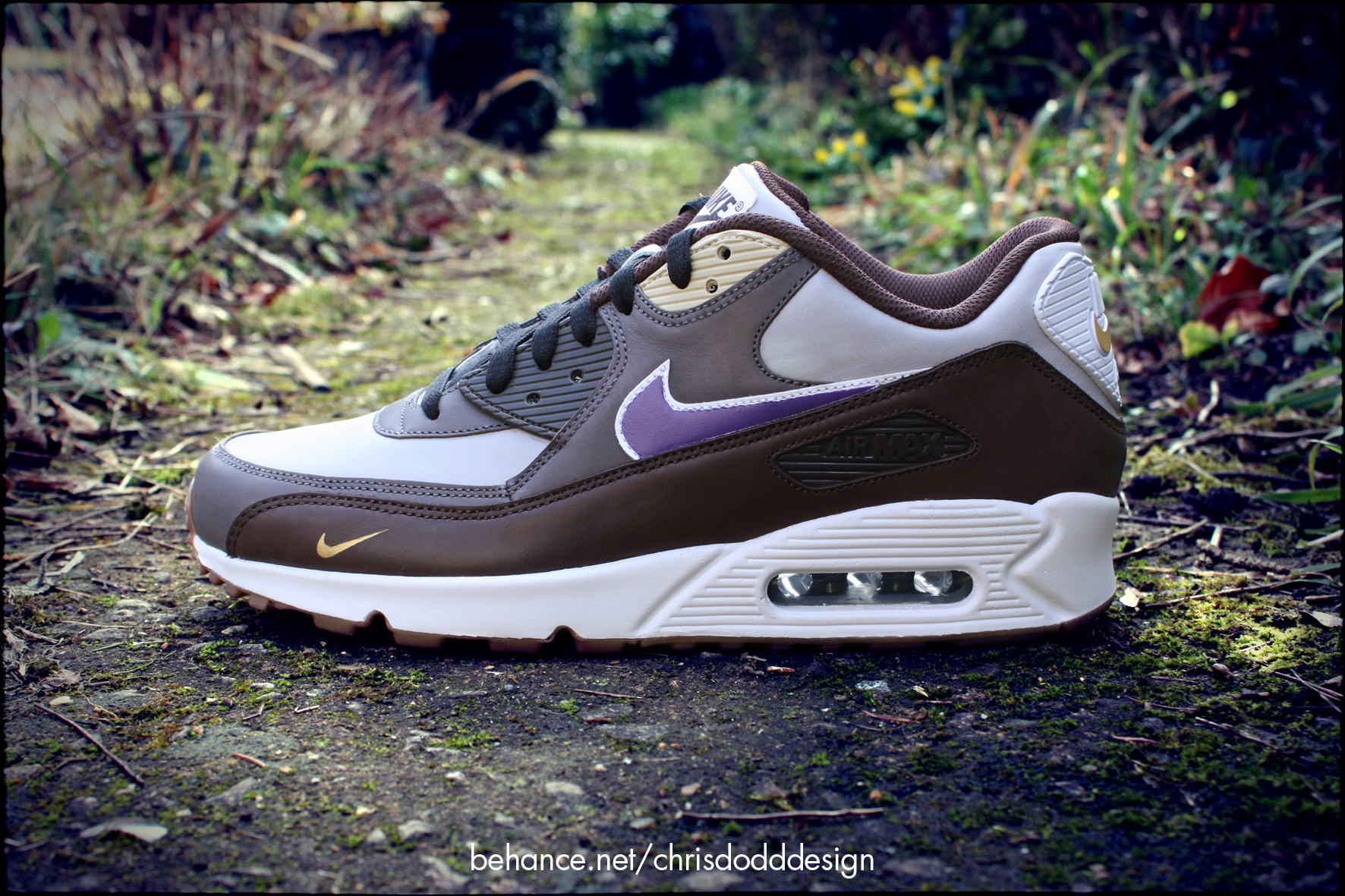 661b1fc9f0413 Atmos x Nike Air Max 90 'Viotech' Custom on Behance