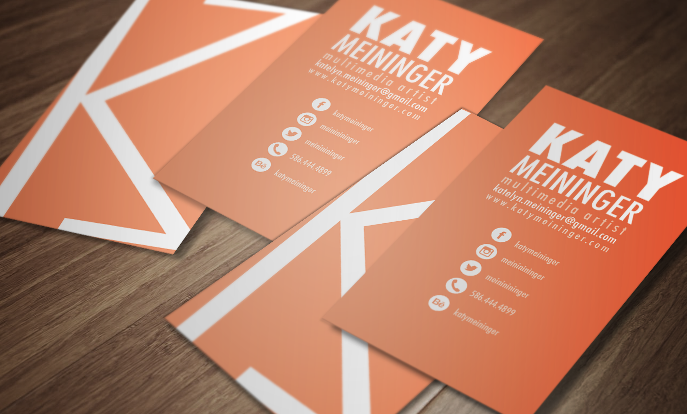 Personal branding katy meininger on behance that included a logo business card letterhead envelope resume etc this is my personal identity project reheart Images