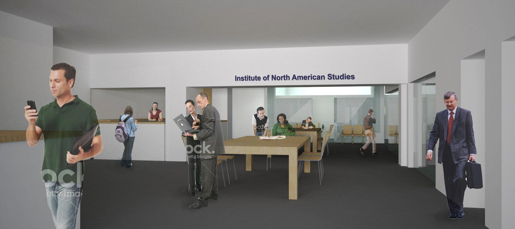 draft reform faade and lobby ien institute for north american studies c aribau barcelona spain emanuele di marzo architect