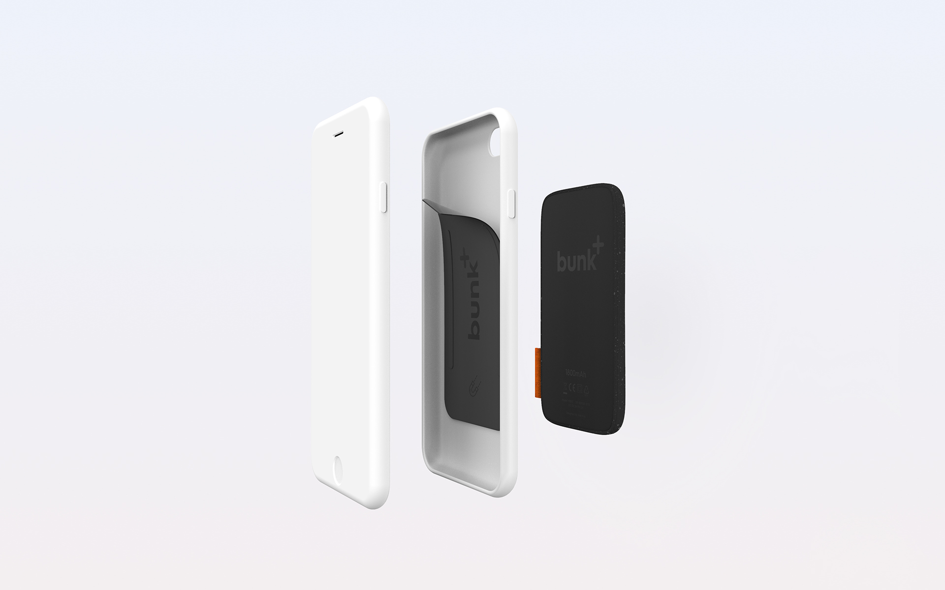Industrial Design: Bunk - The wireless smartphone battery