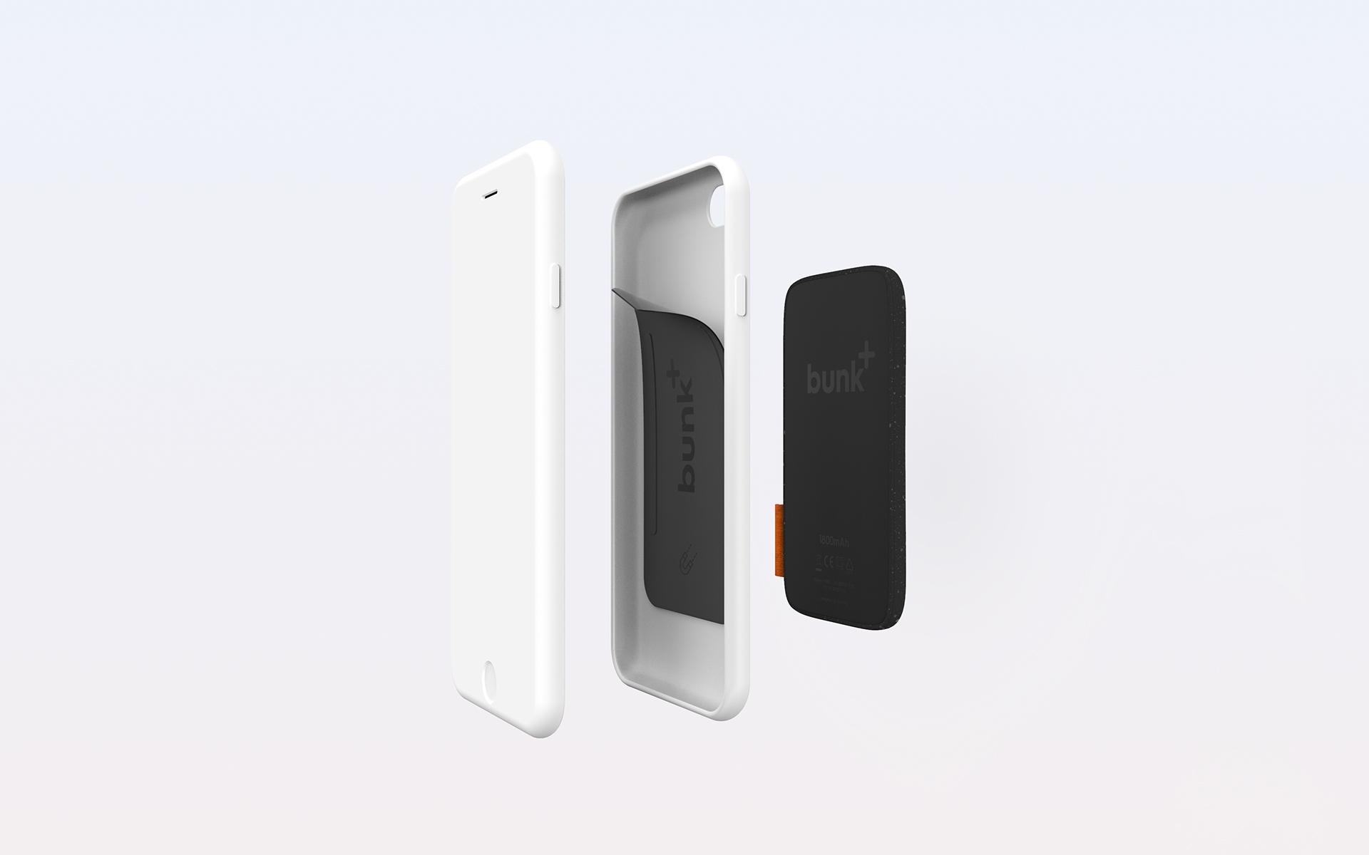 Industrial Design: Bunk - The wireless smartphone battery