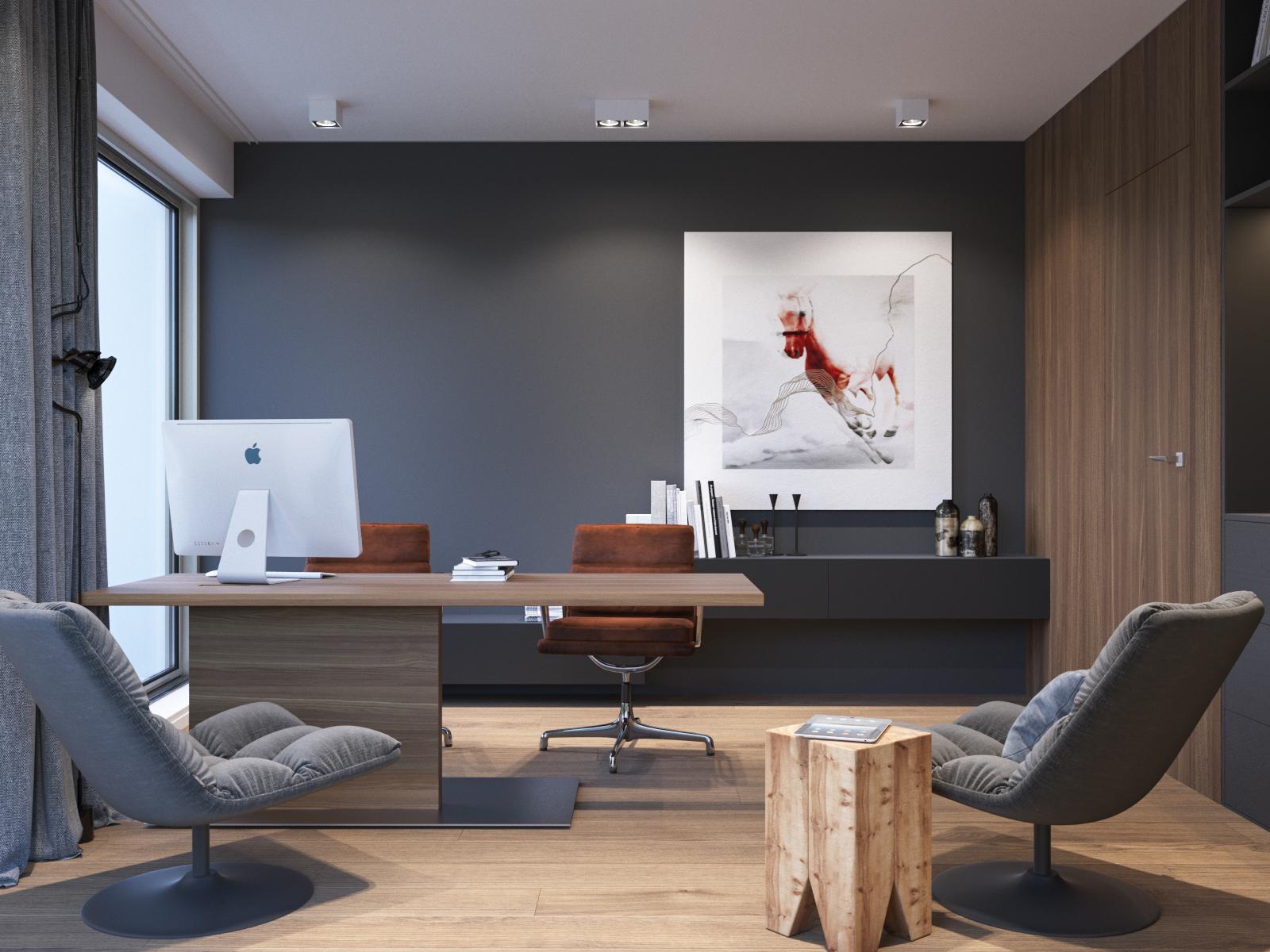 Modern villa interior on behance