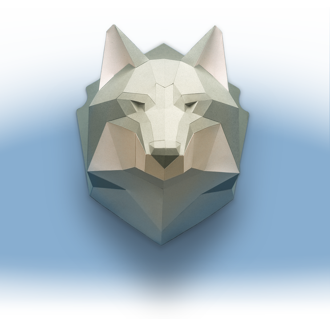 Free 2D Template of Wolf's Head on Behance