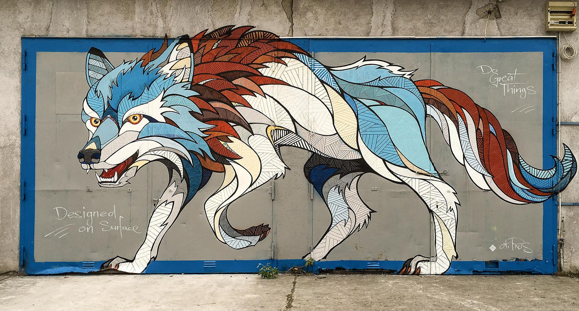 Волки граффити картинки