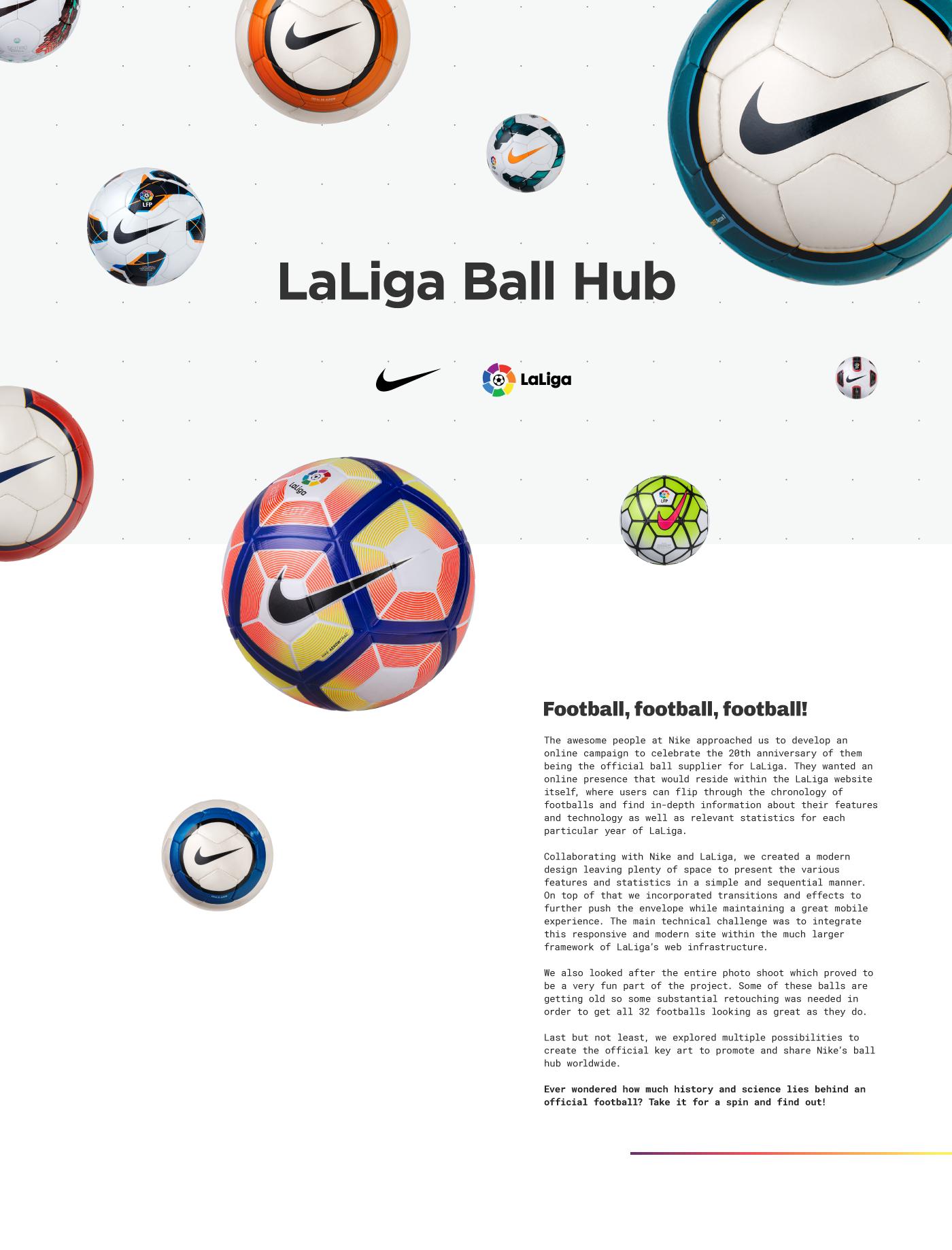18c3dd7fcd3 Nike - LaLiga Ball Hub - Website on Behance