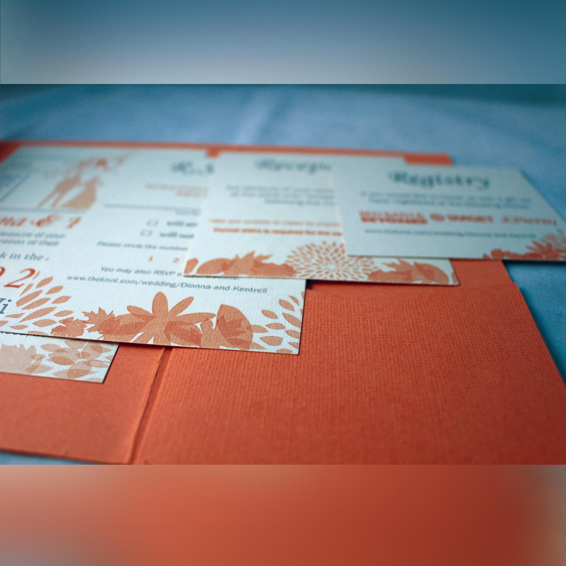 Coral Pocketfold Wedding Invitations on Behance