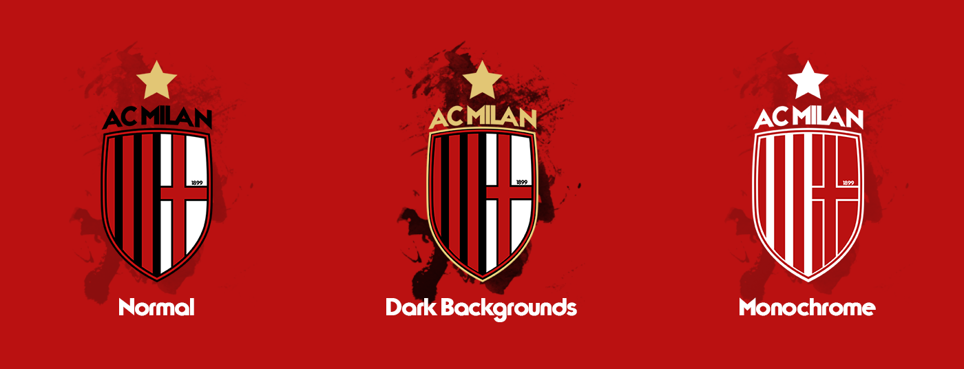Ac Milan Branding And New Logo 17 18 On Behance