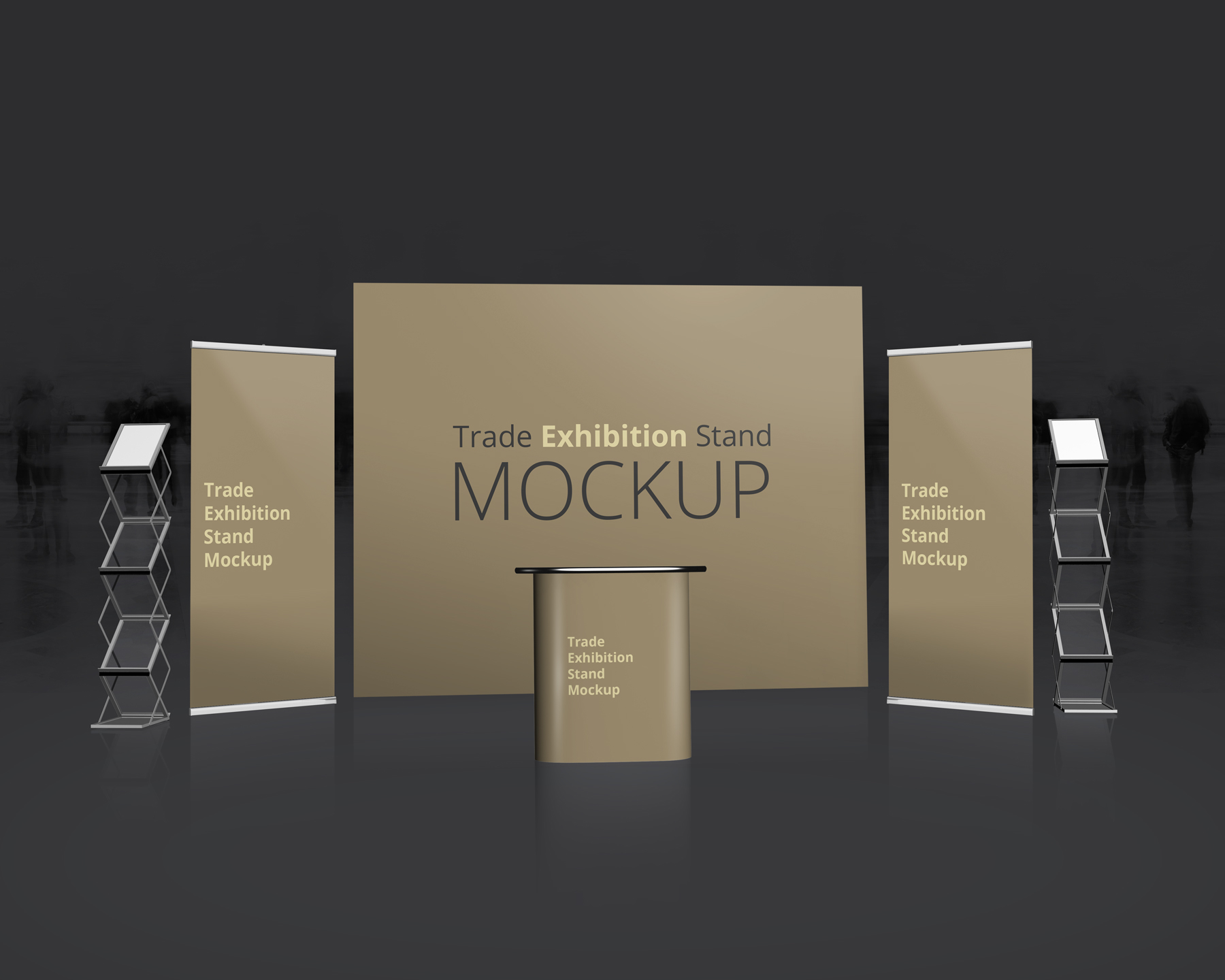 stand up display mockup