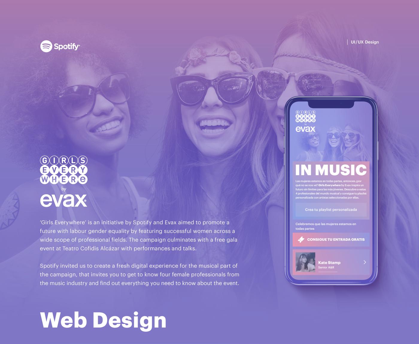 Evax & Spotify - Girls Everywhere - Digital Campaign on Behance