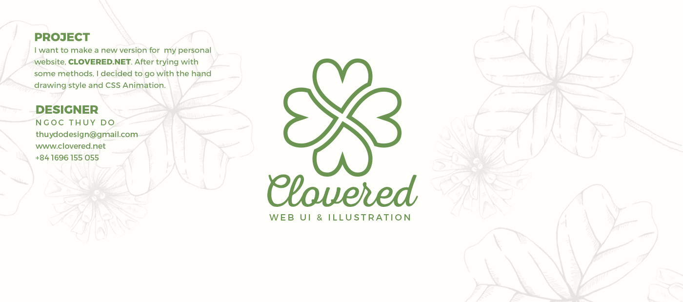 CSS Animation x Illustration for Clovered net on Behance
