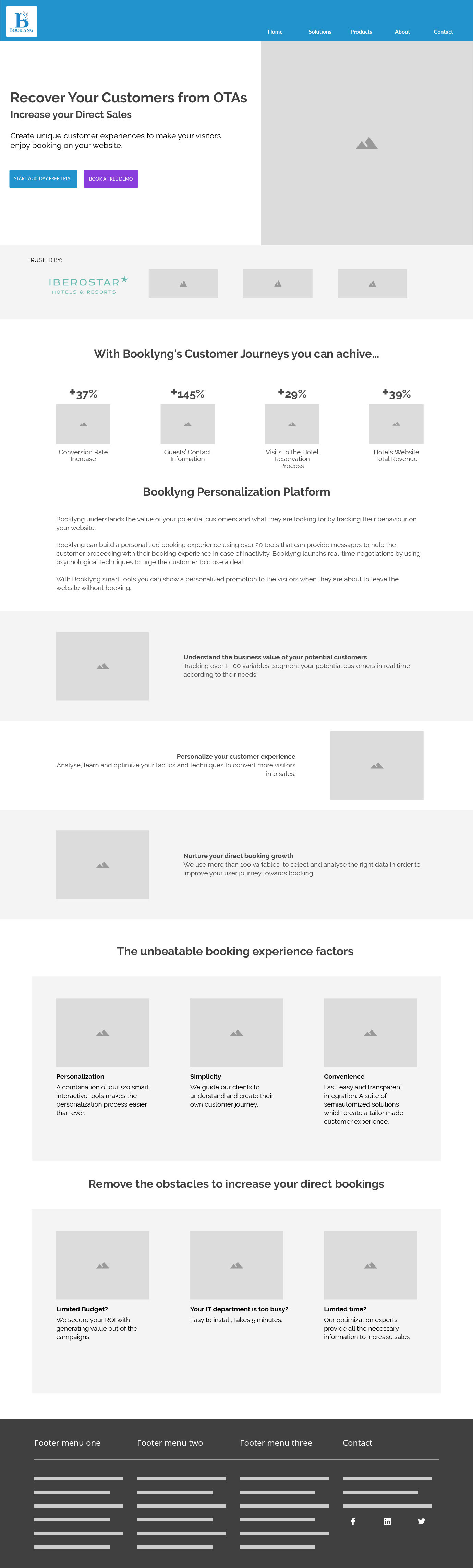 Booklyng Website. UI analysis, layout and development