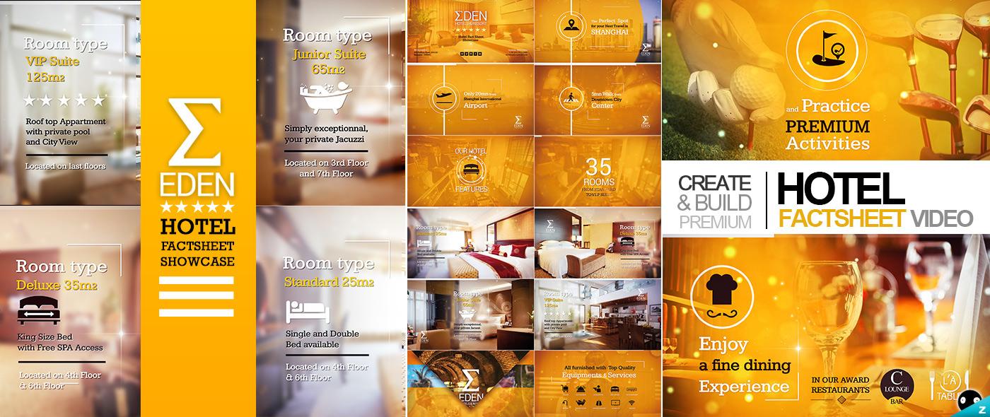 Hotel Fact-sheet Showcase on Behance