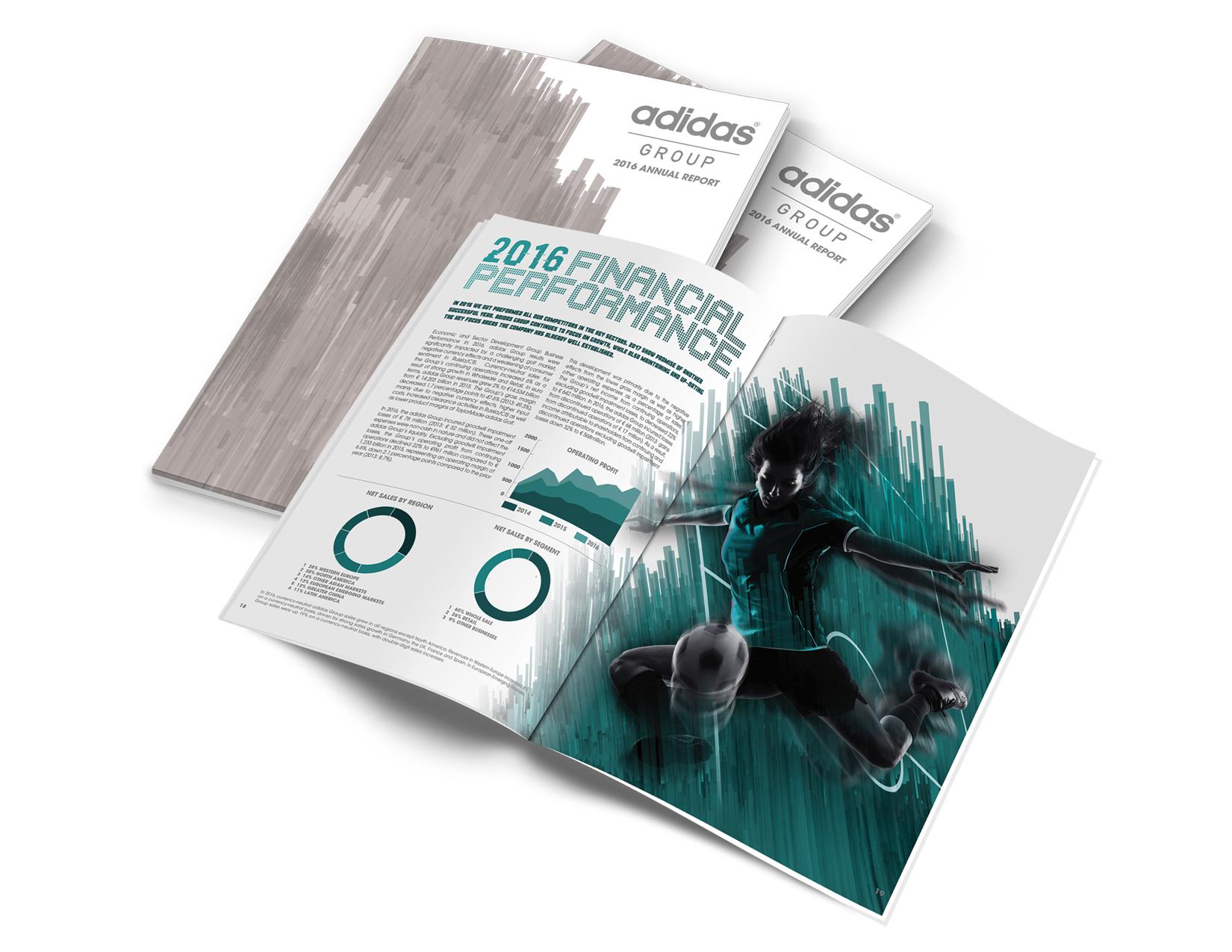 fumar Percibir Encommium  Steve Mathews Portfolio - Adidas Annual Report