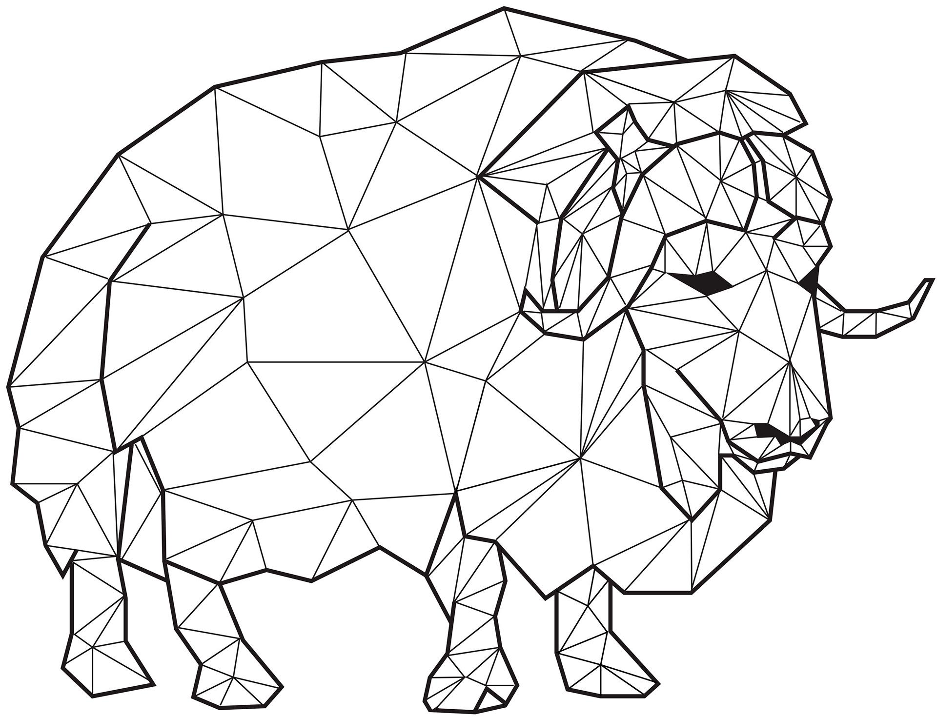 Картинки геометрических животных клипарт