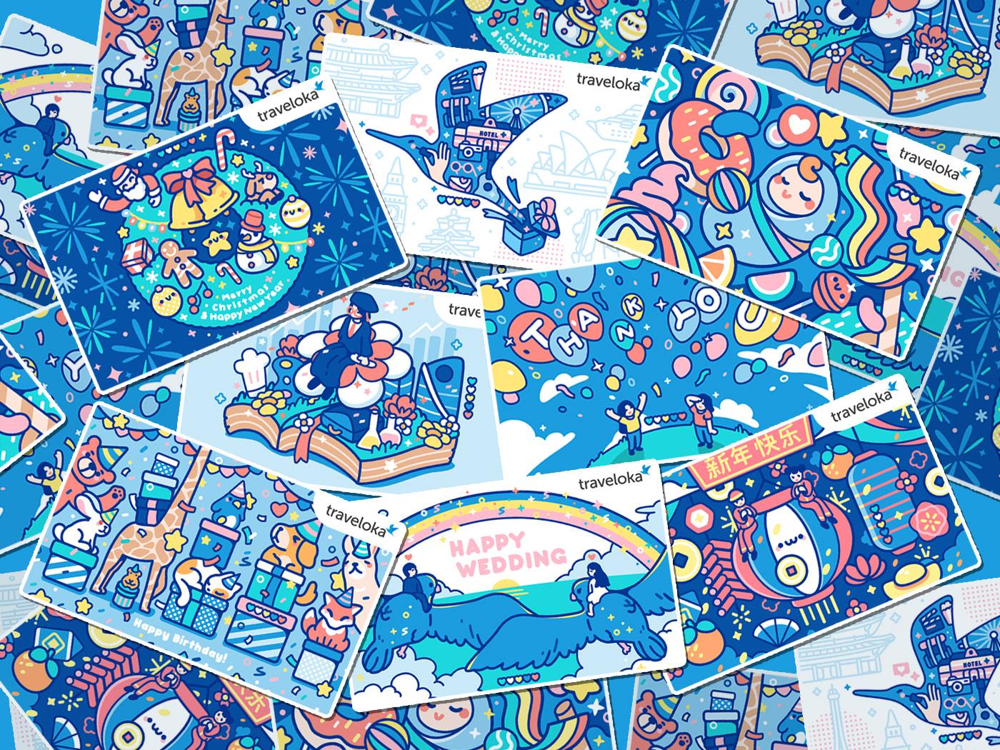 Traveloka Gift Voucher Illustration On Behance