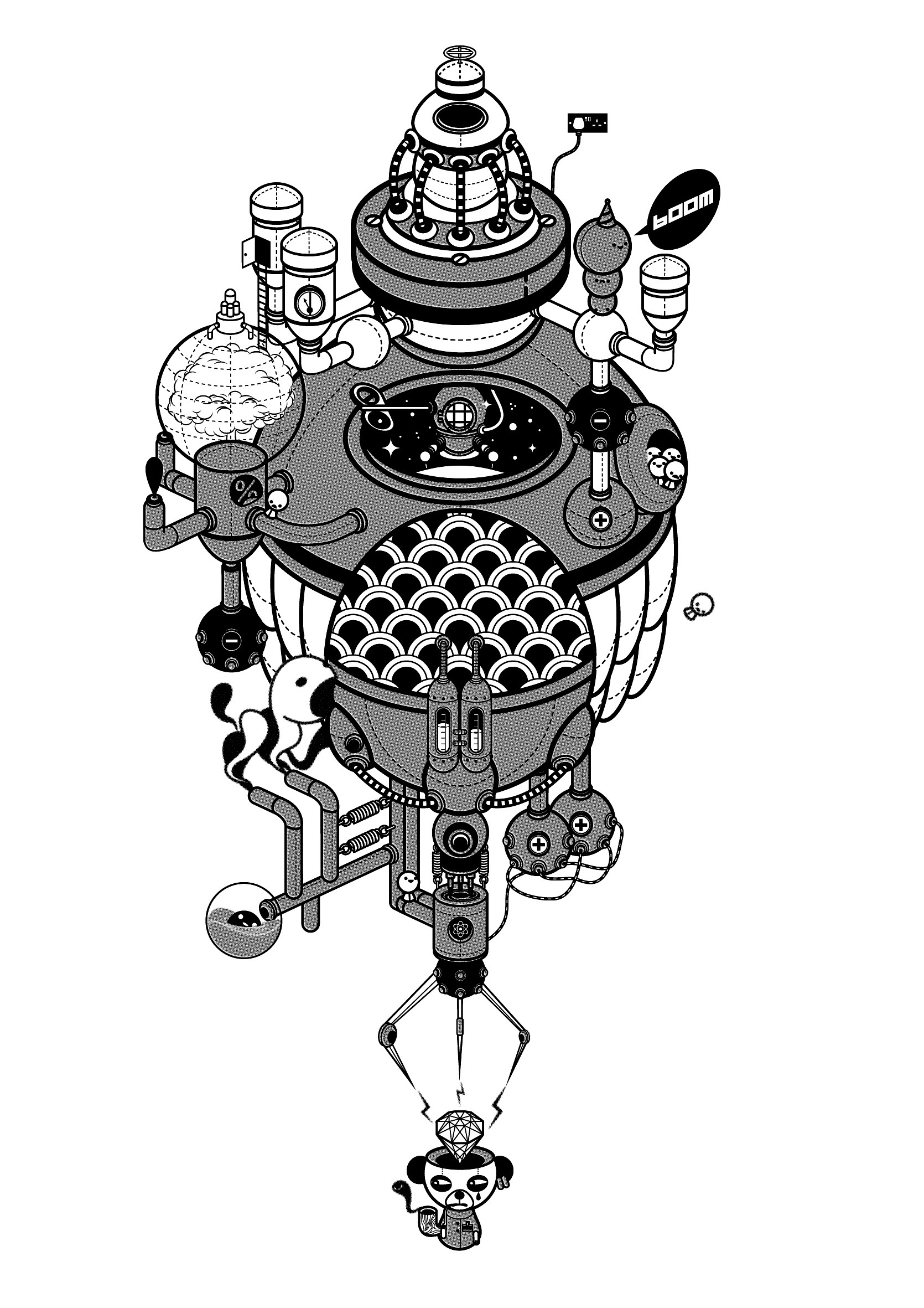 Character Design London : Stephen chan liverpool illustrator isometric