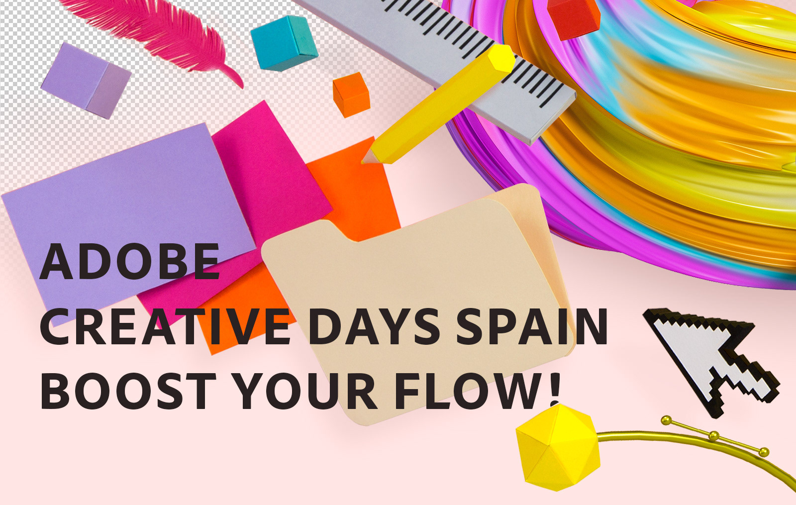Adobe Creative Days Spain - Boost Your Flow Artwork