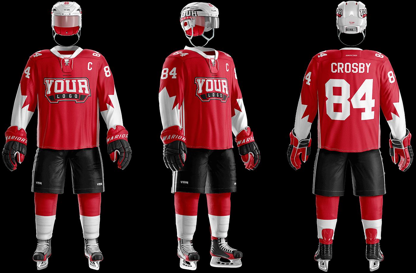 Ice Hockey Uniform Template on Behance
